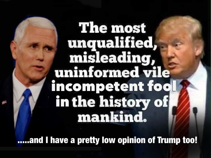 And sadly Trump proves on a daily basis his inability, his ignorance and his incompetence.