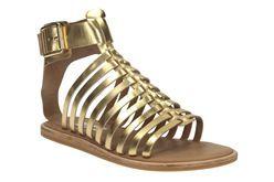 Renee Ice, Gold Metallic, Womens Casual Sandals