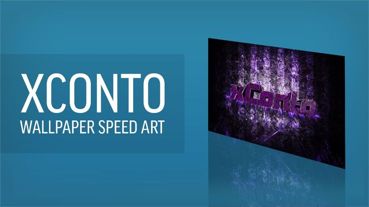 This is a speed art of me making a desktop wallpaper for xConto.