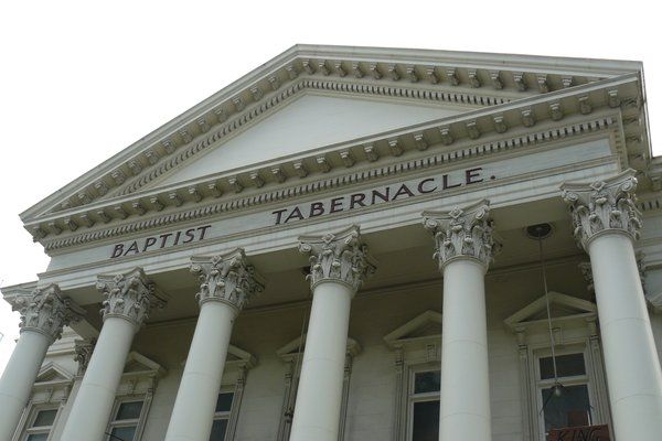Closer look at Baptist Tabarnacle's Corinthian capitals
