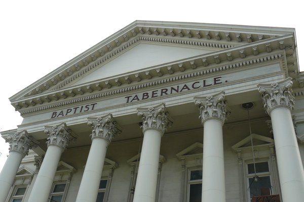 Closer look at Baptist Tabarnacle's Corinthian capitals