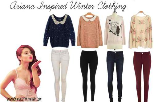 Winter Outfits Tumblr   Ariana Grande Inspired   My Style )   Pinterest   Ariana Grande On ...