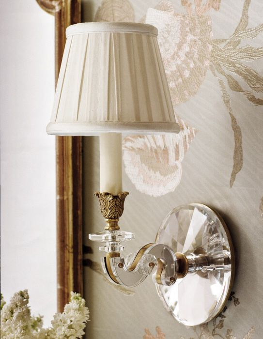 sconces - #sconces - beautiful brass and crystal sconces