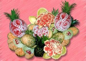 Image result for fruit sculptures