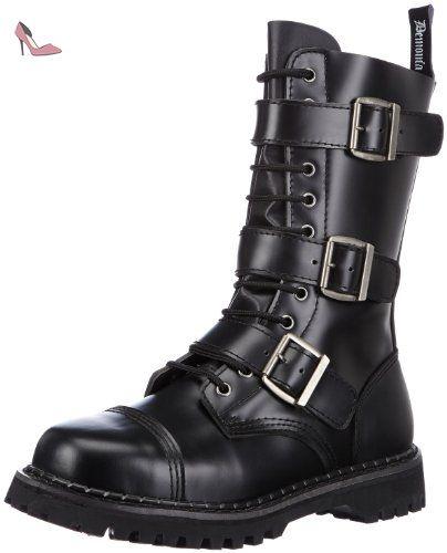 Demonia  Riot-12, bottes de motard homme - Noir - Nero (Schwarz (Schwarz)), 40 EU - Chaussures demonia (*Partner-Link)