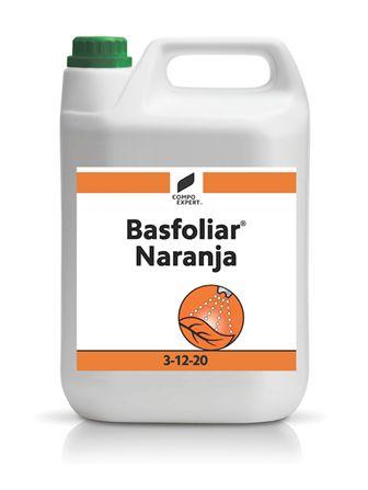 Basfoliar Naranja  Σύνθεση: 3% Ν , 12% P2O5  , 20% K2O, 0.2% B , 0.02% Mo      Υγρό Καλίου λίπασμα εμπλουτισμένο με Άζωτο, Φώσφωρο, Βόριο και Μολυβδαίνιο. Ιδανικό για διαφυλλική εφαρμογή σε καλλιέργειες διαδοχικών καρποδέσεων όπως τα κηπευτικά.     Διαθέσιμες Συσκευασίες: Χαρτοκιβώτιο 4 x 5 λίτρα