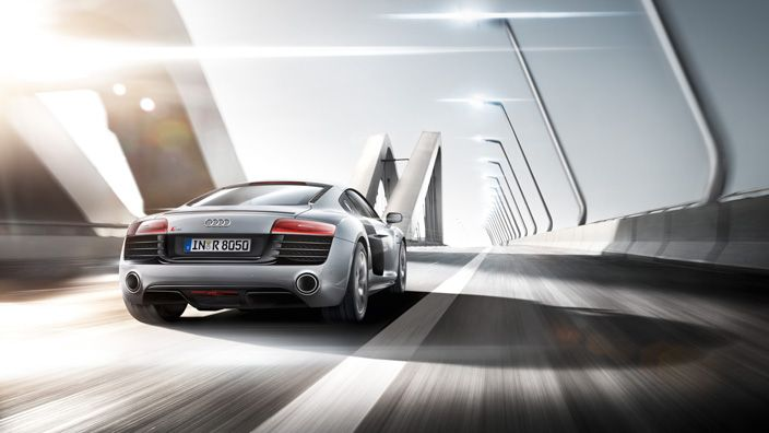 Its athletic curves are just a hint of what's inside: pure performance with explosive equipment. The Audi R8 Coupé. Source: Audi AG
