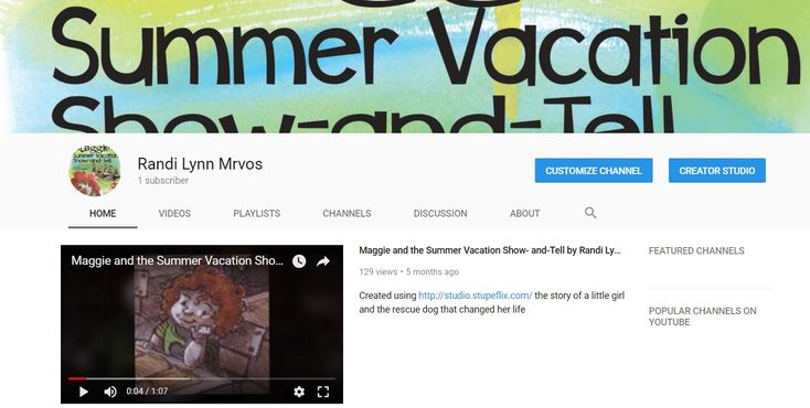 Youtube video trailer, Maggie and the Summer Vacation Show-and-Tell