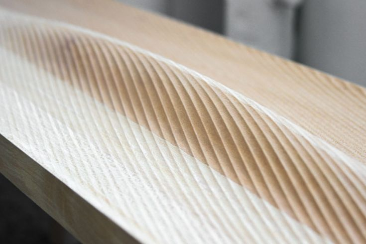 Intricate surface texture created through careful manufacturing techniques.