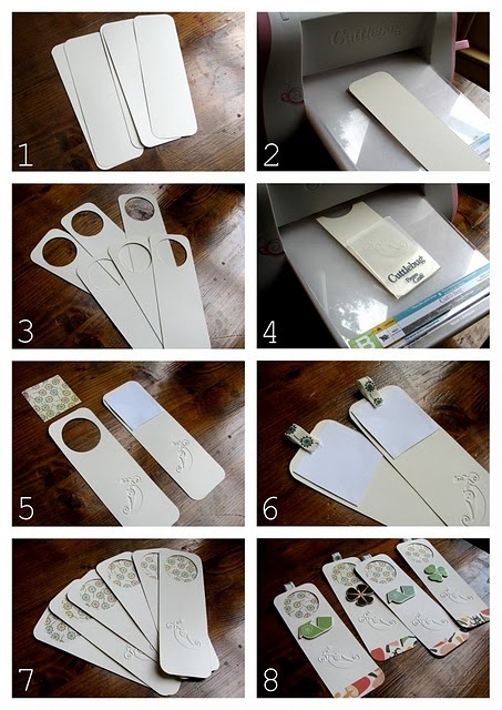 bookmarks punch out circle/square and insert photo