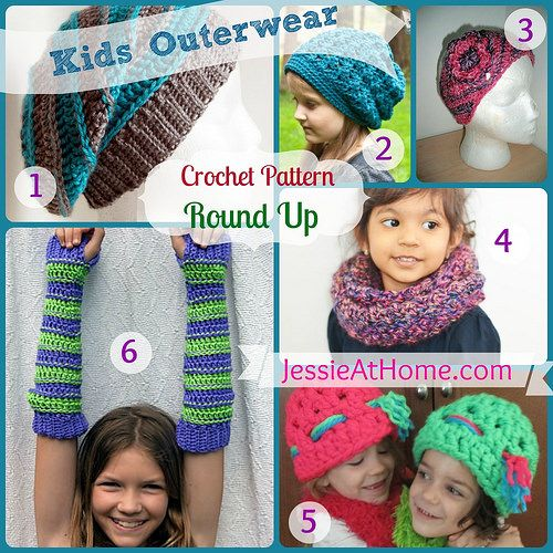 Free #crochet patterns for outerwear for kids! On JessieAtHome.com!