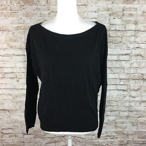 La fee maraboutee black sweater back exposed zipper sz 2 wool cashmere Italy  | eBay