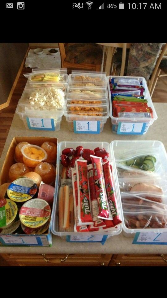 Instead of just throwing things into the cooler, get some snap top lids and portion all of the perishables into boxes. Then cool the food with ice packs so the cooler doesn't fill with water.