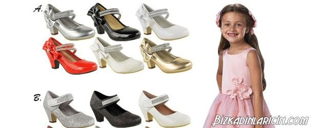 Çocuk Ayakkabıları Topuklu Modası 2015 - http://www.bizkadinlaricin.com/cocuk-ayakkabilari-topuklu-modasi-2015.html  Uzun bir süredir küçük kız çocuklarında topuklu ayakkabı giyme modası başladı. Çocuk ayakkabıları topuklu modelleri 2015 resim galerimizde kızına topuklu ayakkabı almak isteyen ve model arayışı içine giren annelere fikir verebilecek birbirinden güzel topuklu ayakkabılara yer verdik. Topuklu ayakkabılar ayak sağlığı için uygun