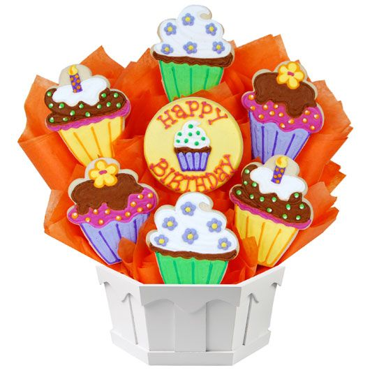 BIRTHDAY GIFT BASKETS Cute As A Cupcake BouTrayTM The Only Thing Cuter Than Is Collection Of Cupcakes In Bouquet With Added Deliciousness