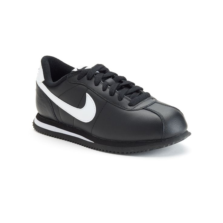 Nike Cortez Pre-School Boys' Athletic Shoes, Size: 12, Grey (Charcoal)