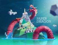 Paper Dragon by INK studio , via Behance