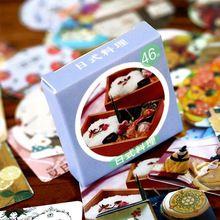 46 Stks/partij Mini Japanse Voedsel Papier Sticker Decoratie DIY Ablum Dagboek Scrapbooking Label Sticker Kawaii Briefpapier(China (Mainland))