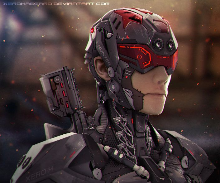 Cyborg? Armor? Either way, very cool.