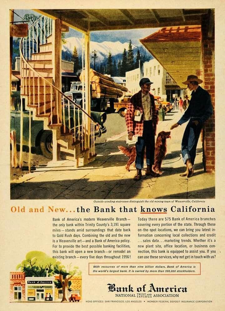 Bank Of America 1956 Bank Of America Trinity County America