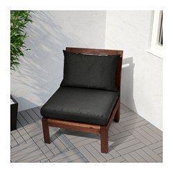 IKEA - ÄPPLARÖ, Sitzelement 1/außen, Durch Kombinieren verschiedener Elemente lassen sich Sitzgruppen ganz nach Wunsch gestalten; perfekt abgestimmt auf den Sitzplatz draußen.Das Möbelstück wird noch bequemer und persönlicher mit Kissen in verschiedenen Größen, Farben und Ausführungen.Zur Erhöhung der Haltbarkeit und damit die natürliche Holzstruktur sichtbar bleibt, wurde das Möbelstück mit mehreren Schichten halbtransparenter Holzlasur vorbehandelt.