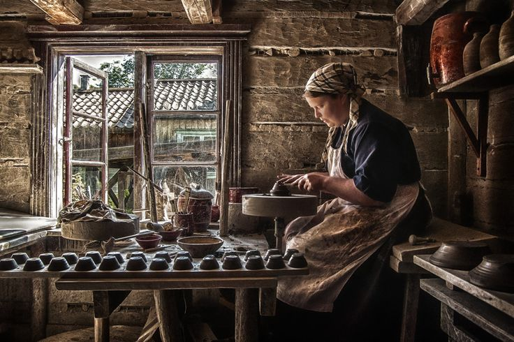 """Story of a potter"" Handicrafts Museum in Turku, Finland."
