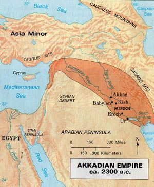 Mesopotamia - Akkadian Empire Circa 2270–2083 BC.Sargon the Great was a great ruler of Akkad.He established his own city named Akkad.He conquered the Sumerian city-states and united northern and southern Mesopotamia under a single ruler.One of the great kings of Akkad was Naram-Sin. He was the grandson of Sargon the Great.He crushed revolts and expanded the empire. His reign is considered the peak of the Akkadian Empire.