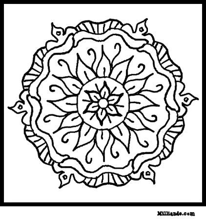 colouring in mandala