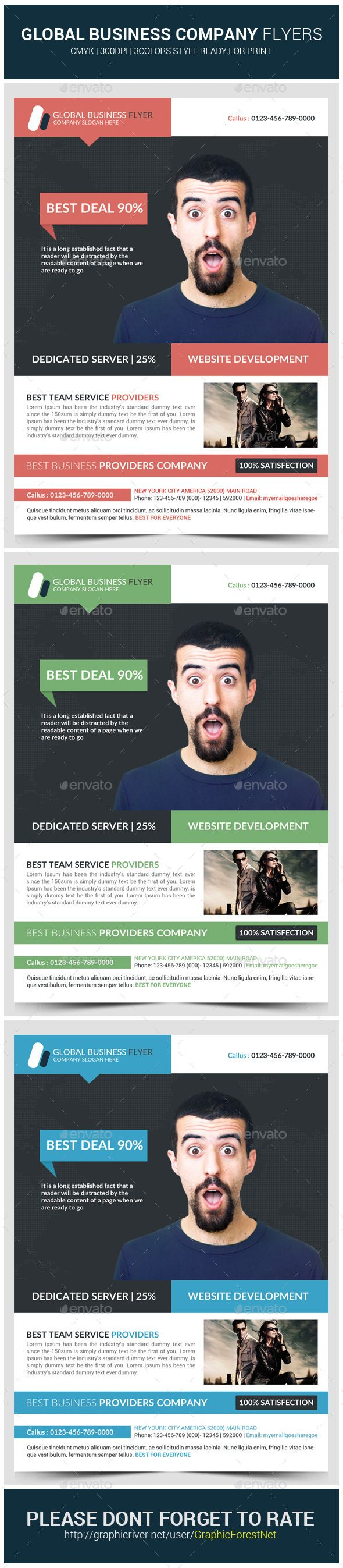 Global Business Flyer Template