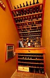 Under stair wine storage