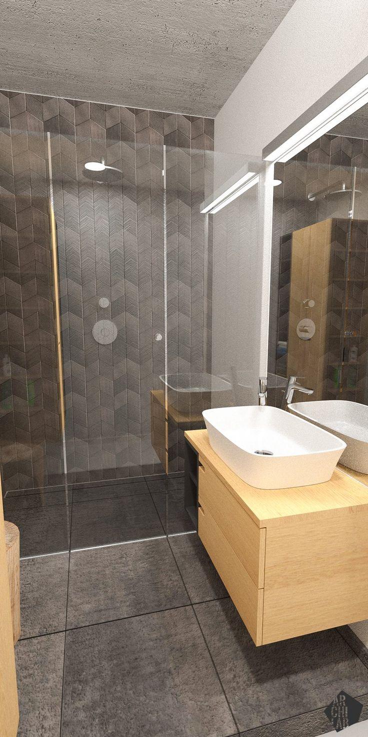 Návrh kúpeľne - Interiér bytu Ambroseho, Bratislava - Interiérový dizajn / Bathroom interior by Archilab