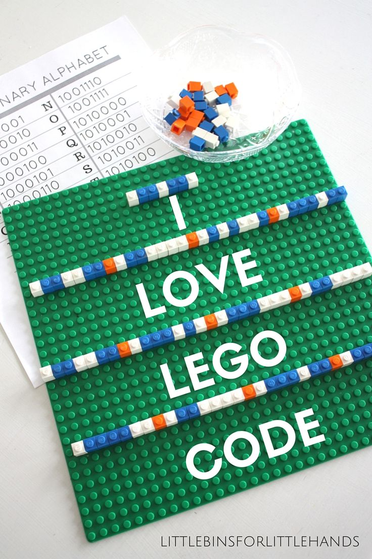 Lego Computer Coding Binary Alphabet - could do secret messages in binary, using beads or whatever