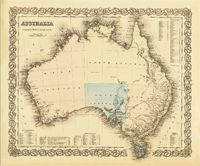This is a really old and really cool historical map of Australia from the year 1855 (told you it was really old!).