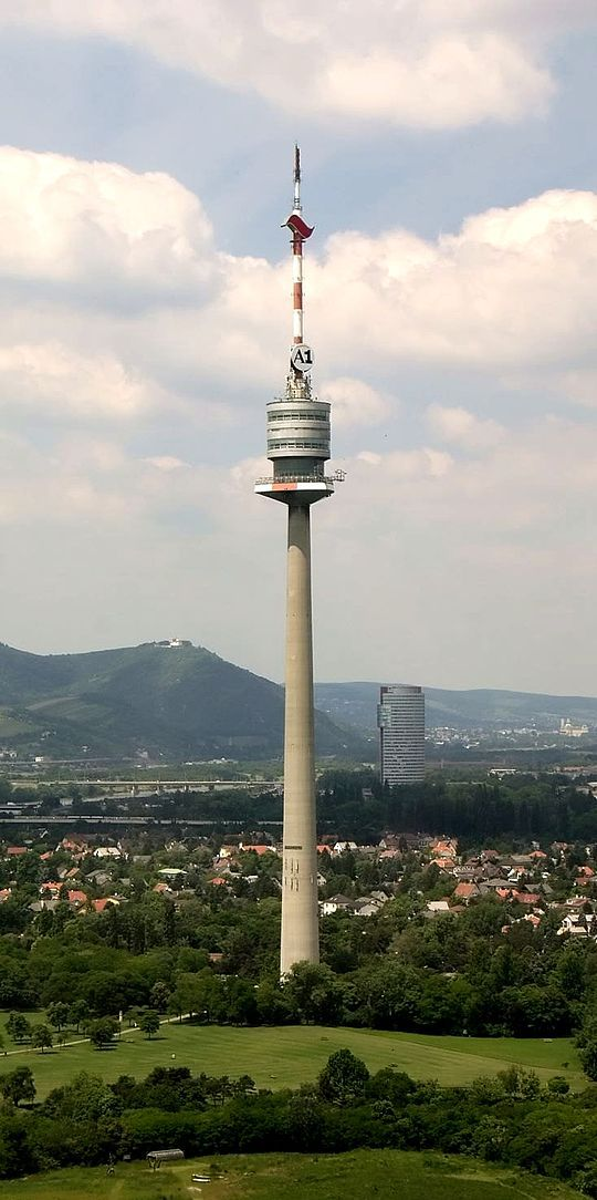 Vienna Donauturm opened in 1964 is the tallest structure in Austria. This communication tower stands at 252m and is one of the tallest tower in Europe