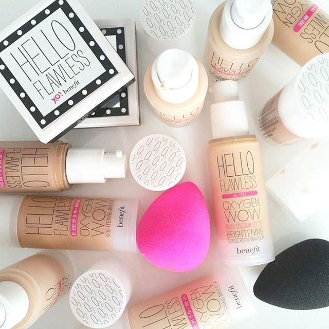 Are you ready to say hello to flawless!? Try our liquid or powder hello flawless! foundation for a gorgeously bright & smooth finish! Photo by: @benefit_stephd
