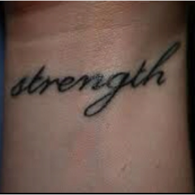 Strength tattoo:::match my hope font on my left wrist