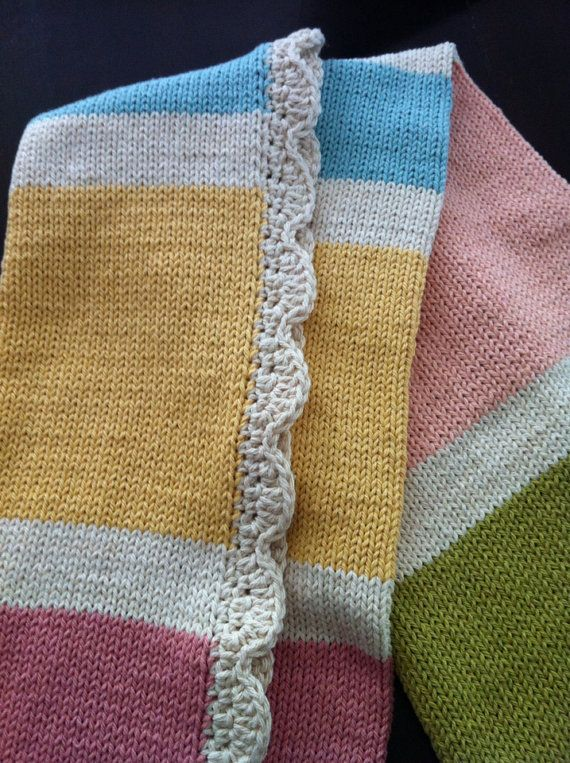 Knitting Pattern Travel Blanket : Baby Blanket Knitted Cotton (travel size) - Baby Candy ...