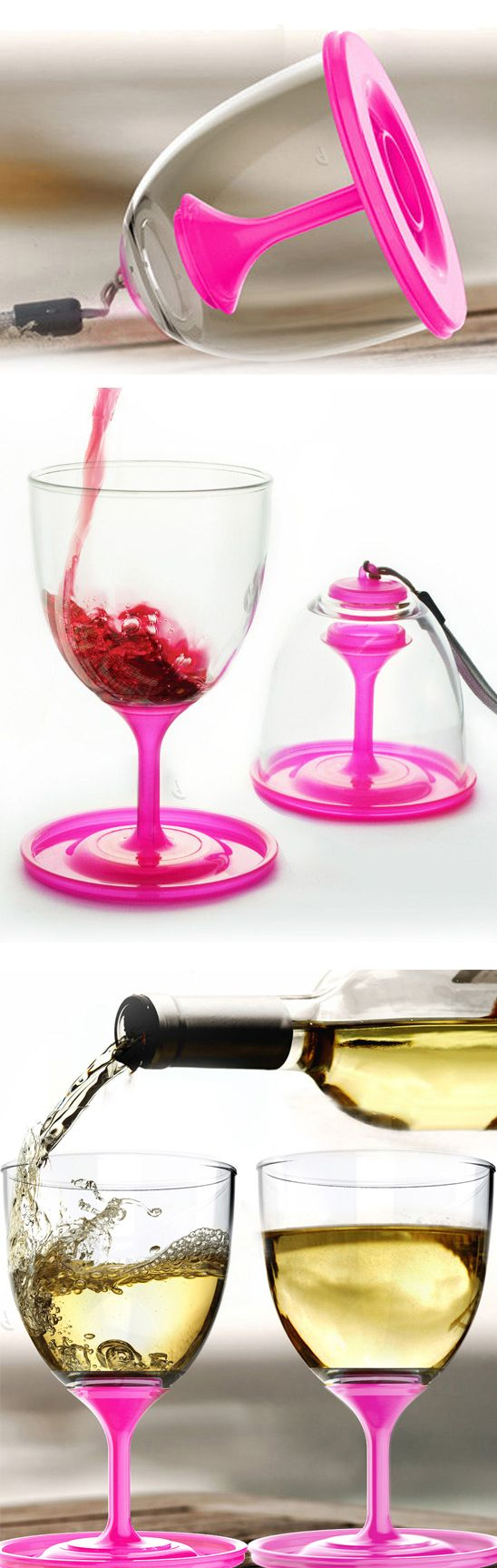 Stack n Go travel wine glass // folds up and stacks for easy storage and carrying - brilliant! #product_design