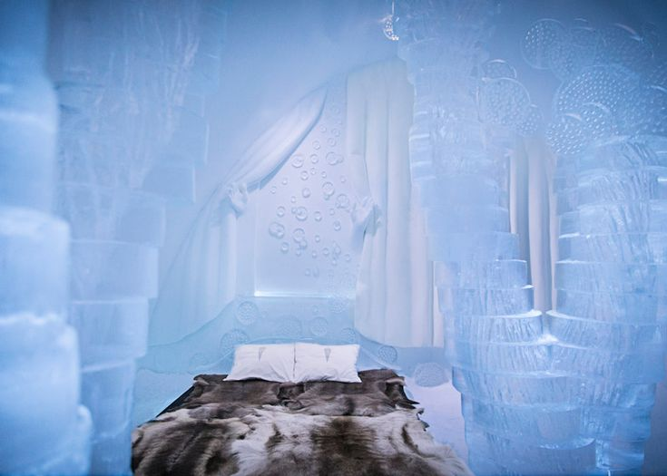 icehotels 25th edition includes a square vortex suite - Stone Slab Hotel 2015