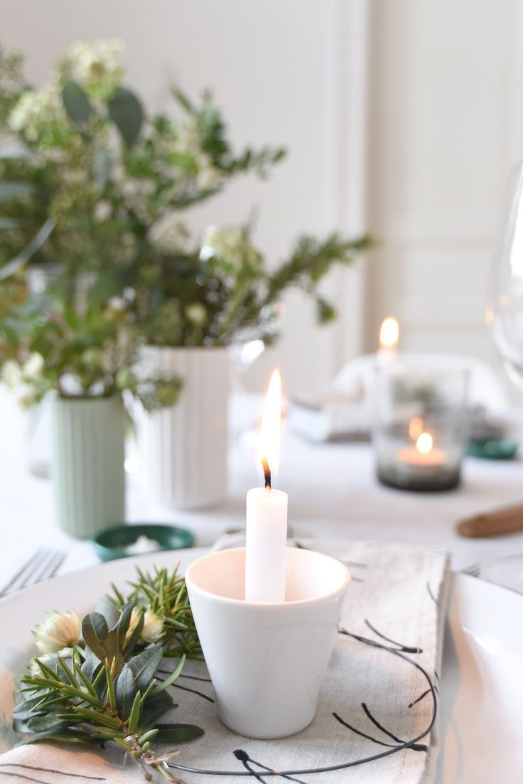 Christmas dinner party table setting - Tabletop Ideas For Holiday Dinner Parties