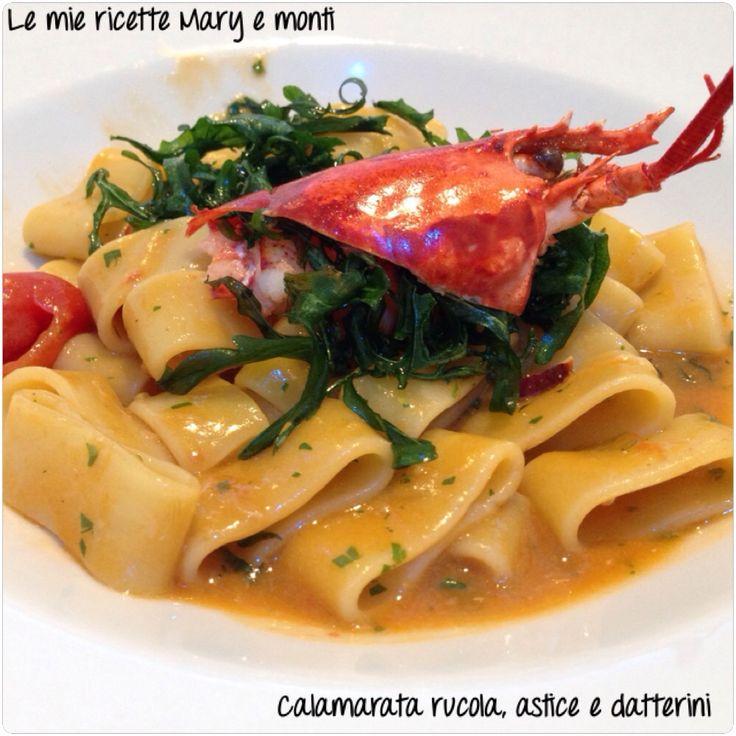 Calamarata rucola, astice e Datterini
