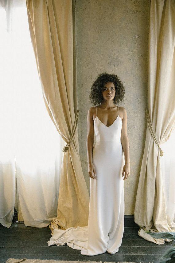 Alexandra Grecco wedding gown | Wedding dress types, Wedding dresses, Sheath wedding dress