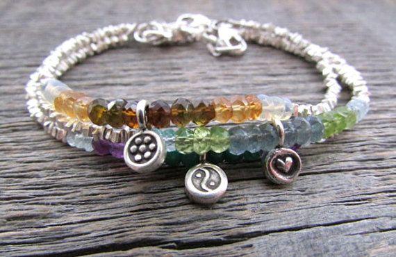 birthstone charm bracelet, mom charm bracelet, hill tribe silver bracelet, mother's bracelet, mother's day gift, custom birthstone bracelet