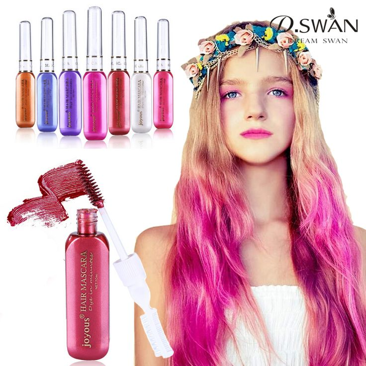 Fashion Hair Color Temporary Hair Dye Cream Fast Dry Washable Hair Color Highlights Dyeing 7 Colors Available