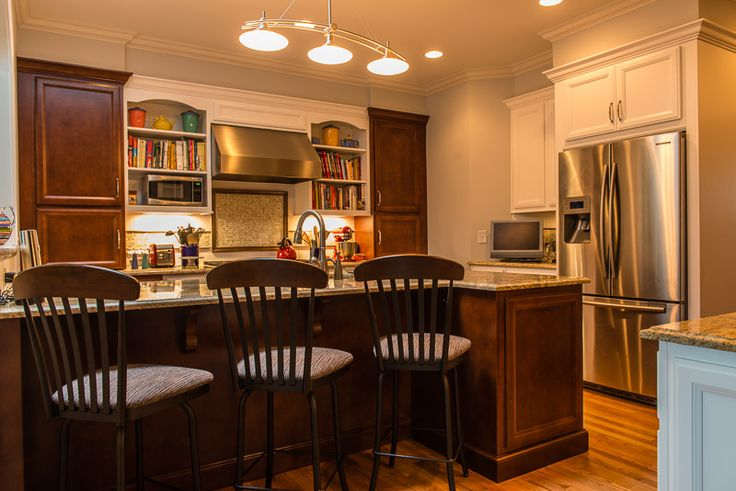 Island seating kitchen design by jeane kitchen and bath for Kitchen design raleigh