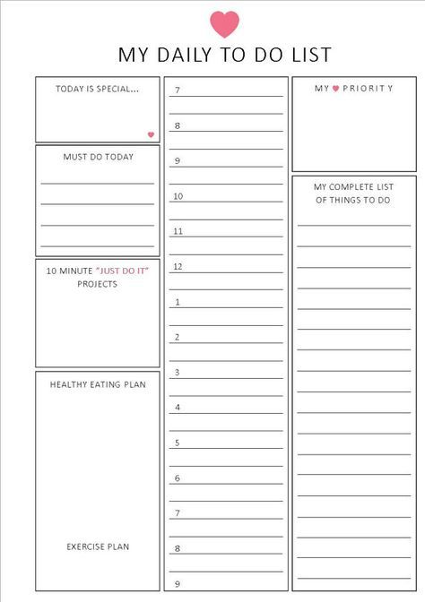 7 best Printable to do lists images on Pinterest Organization - bill organizer chart