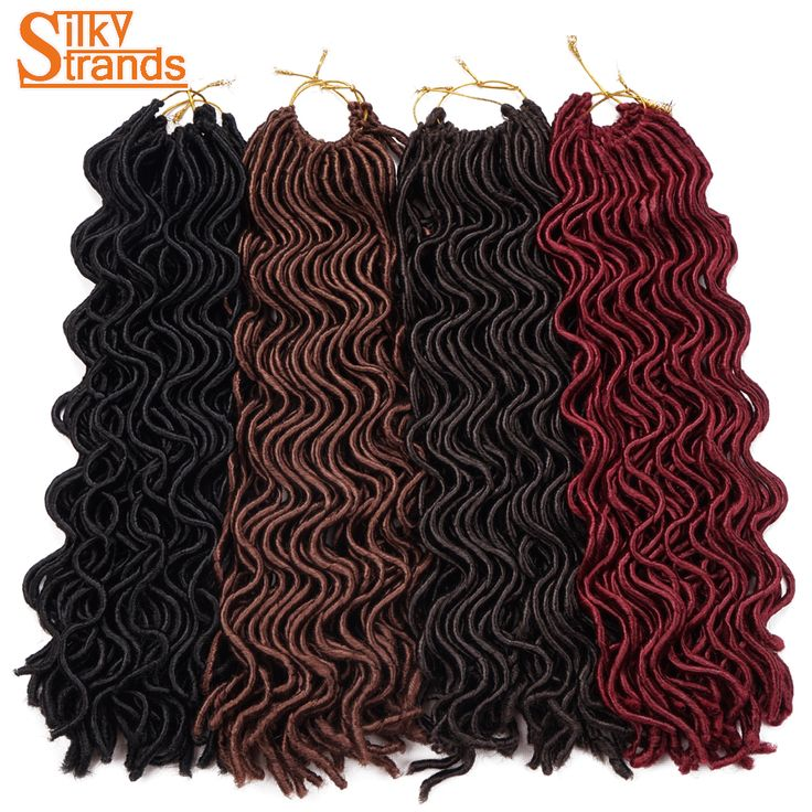 Silky Strands 24'' 100g 24strands/pack Soft Wavy Faux Locs Crochet Hair BUG Blonde Low Temperature Synthetic Hair Extensions  #Affiliate