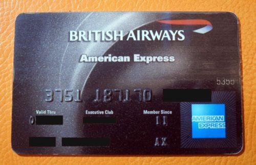 American Exprese. BRITISH  AIRWAYS.