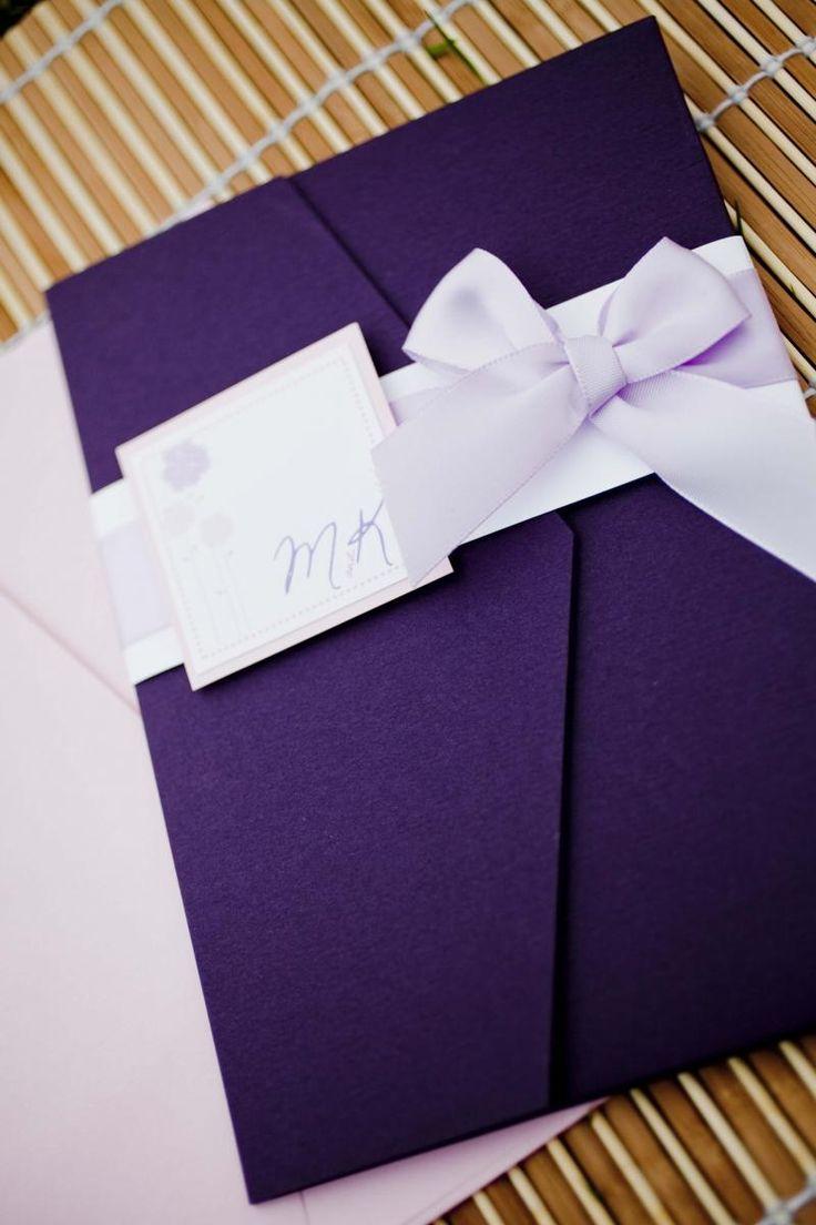 68 best invitation images on pinterest invitation ideas invites purple do it yourself wedding invitation kit monicamarmolfo Gallery