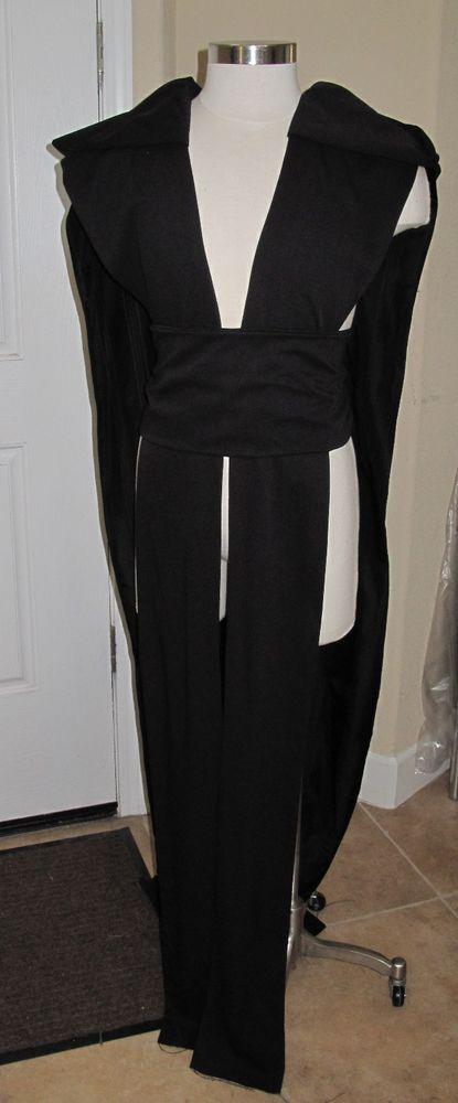 Sith Acolyte order sleeveles hooded tabard vest with sash in several sizes #EvaVanecek #Tabardsleevelessvestwithahoodsash